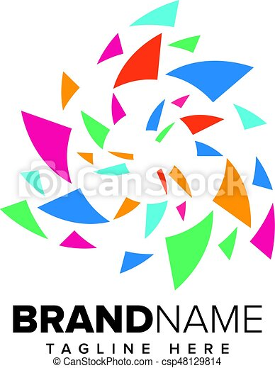 Abstract Pixel Media, Technology Logo - csp48129814