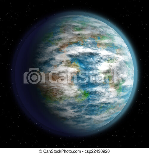 Abstract planet generated texture background - csp22430920