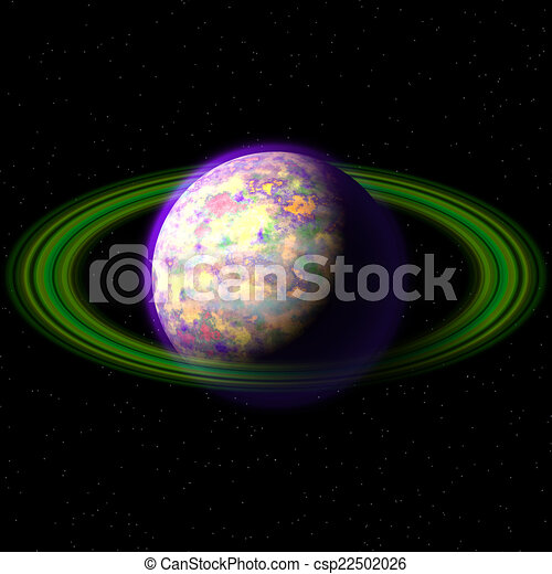 Abstract planet generated texture background - csp22502026