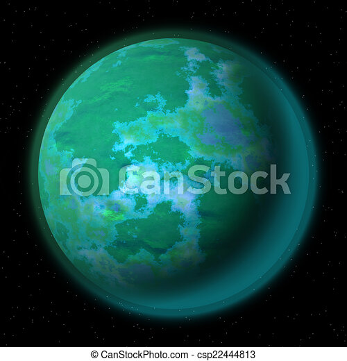 Abstract planet generated texture background - csp22444813