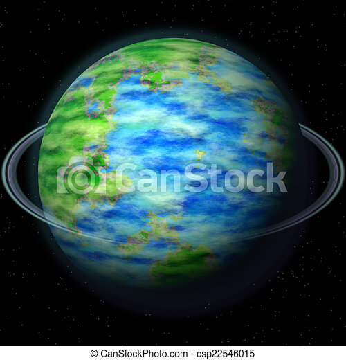 Abstract planet generated texture background - csp22546015