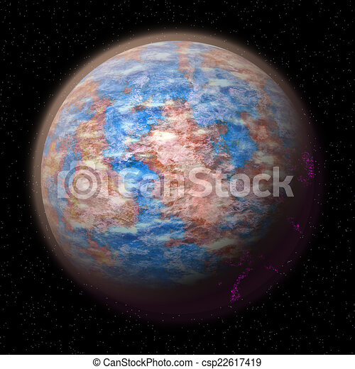 Abstract planet generated texture background - csp22617419