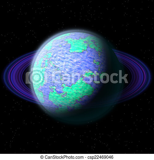 Abstract planet generated texture background - csp22469046