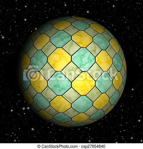Abstract planet generated texture background - csp27854840