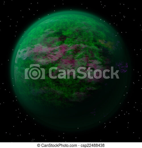 Abstract planet generated texture background - csp22488438