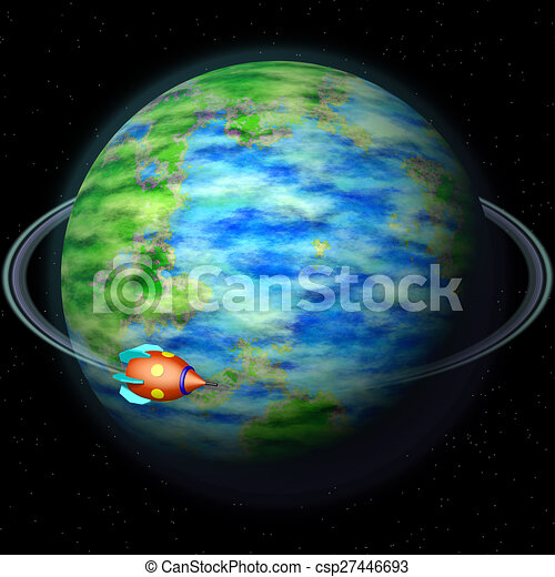 Abstract planet generated texture background - csp27446693