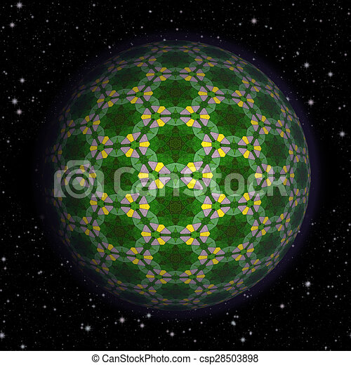 Abstract planet generated texture background - csp28503898