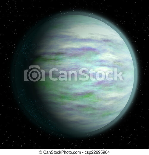 Abstract planet generated texture background - csp22695964
