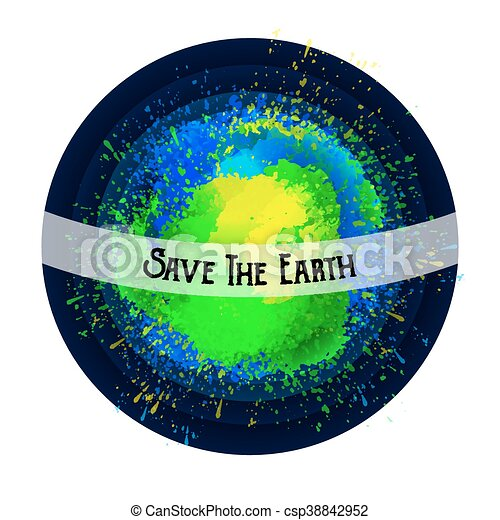 Abstract planet. Save the Earth. Bright spots. - csp38842952