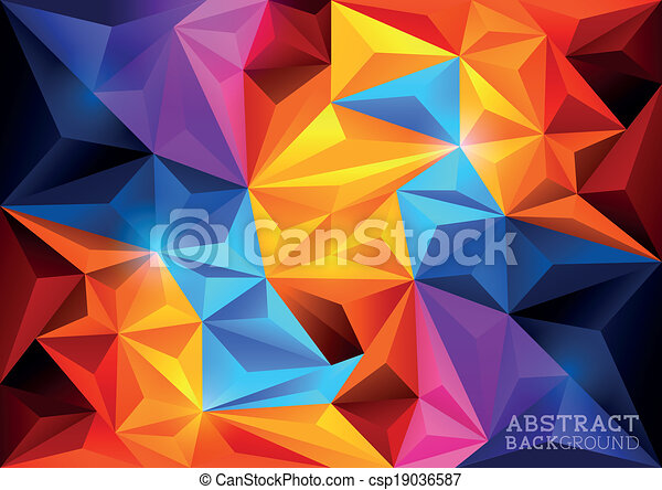 Abstract Polygon Background - csp19036587