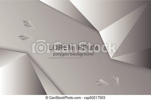 abstract polygon background in grey color. abstract polygon, Low Poly Business Presentation Template, Presentation templates