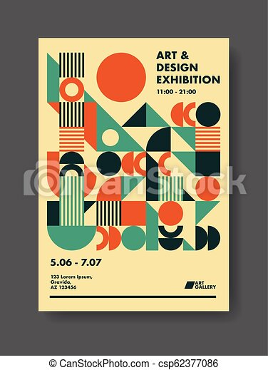 Abstract Poster Design Template - csp62377086