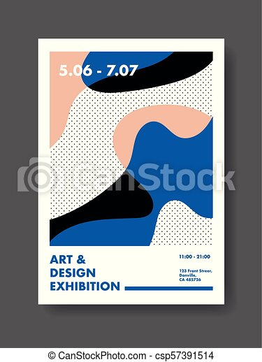 Abstract Poster Design Template - csp57391514