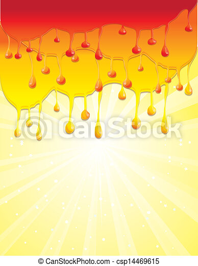 abstract psychedelic rainbow background in warm colors - csp14469615