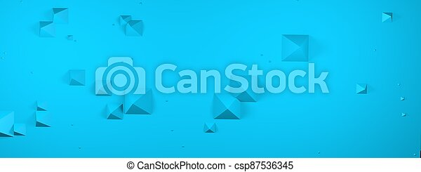 Abstract pyramid geometric concept background. 3D Render. - csp87536345