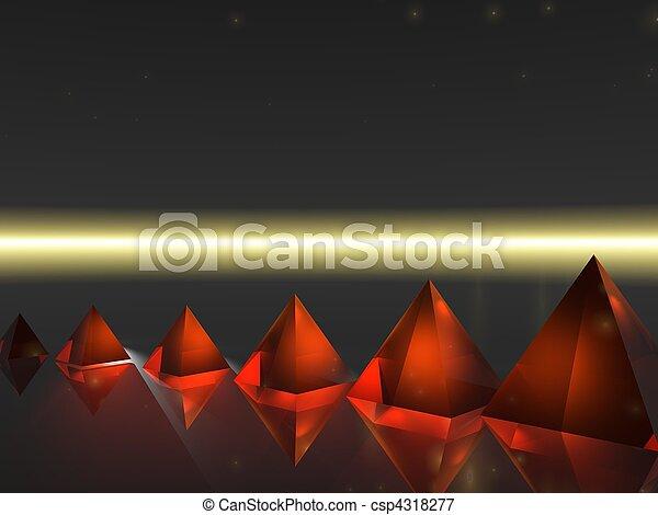 Abstract - Pyramid - csp4318277