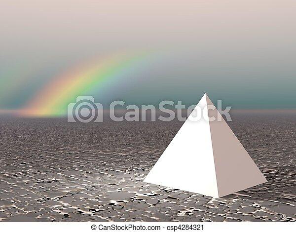 Abstract - Pyramid with rainbow - csp4284321