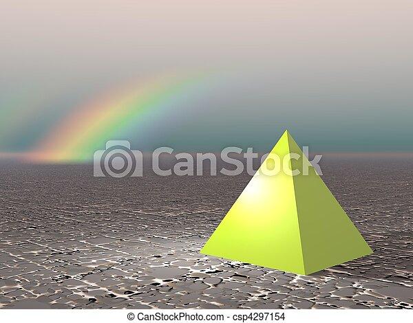 Abstract - Pyramid with rainbow - csp4297154