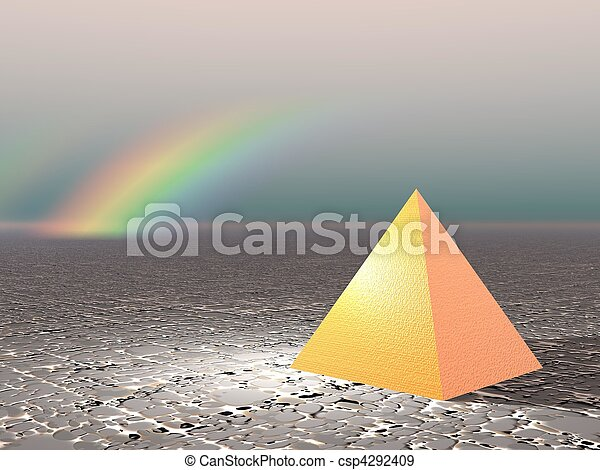 Abstract - Pyramid with rainbow - csp4292409