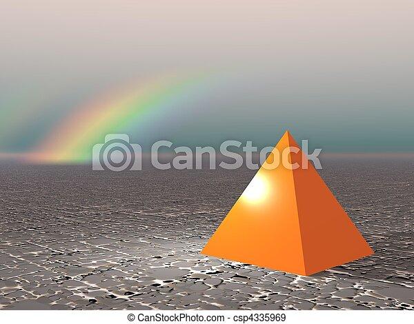 Abstract - Pyramid with rainbow - csp4335969