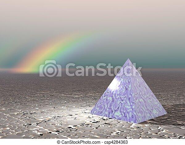 Abstract - Pyramid with rainbow - csp4284363
