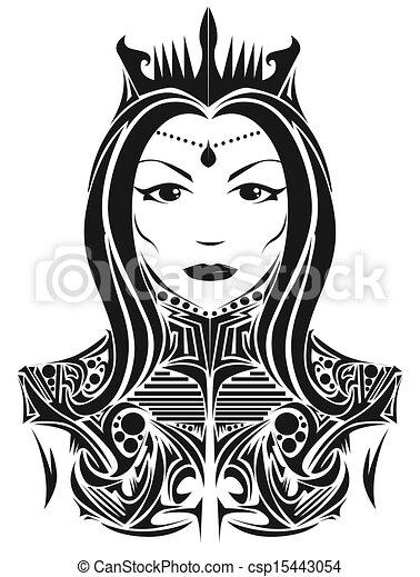 Abstract queen - csp15443054