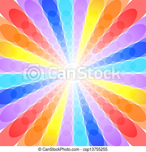 Abstract rainbow background - csp13755255