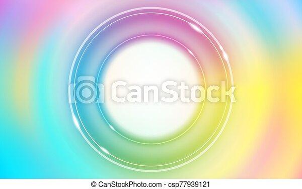 Abstract rainbow circles background vector - csp77939121