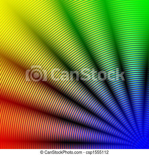 abstract rainbow concentric spiral corner - csp1555112