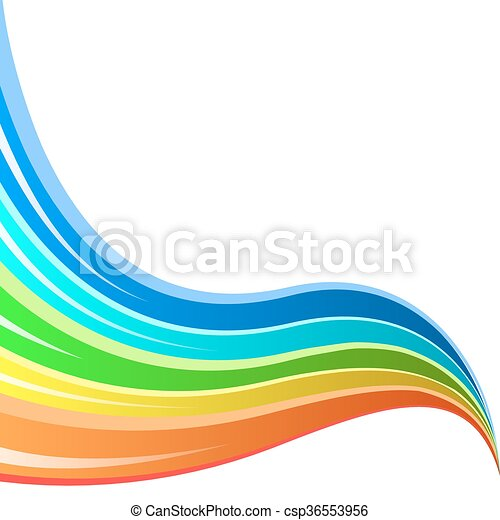 abstract rainbow striped wave vector background clipart vector rh canstockphoto com wave vector free wave vector png