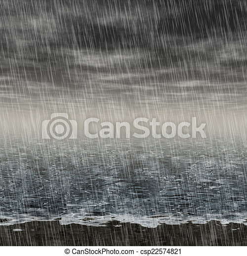 Abstract rainy landscape generated hires background - csp22574821
