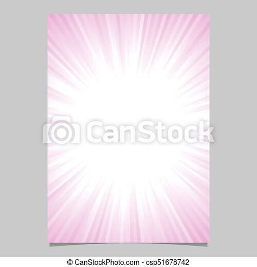 abstract ray burst cover design template gradient vector brochure