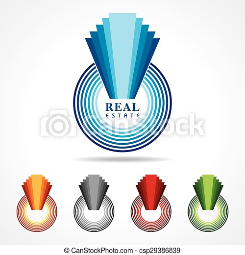 abstract real estate icon designs - csp29386839