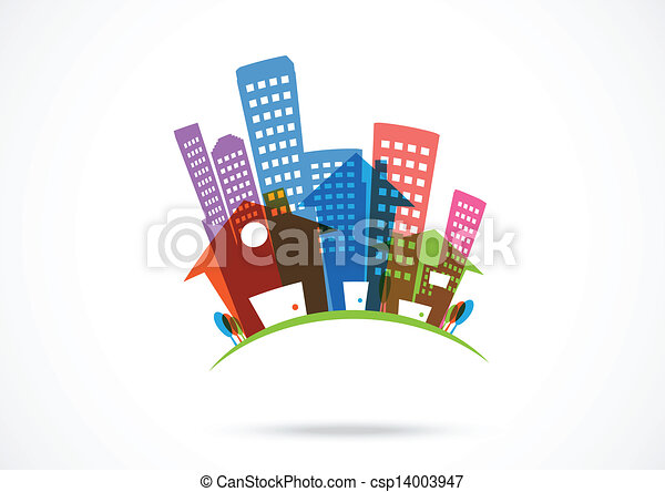 Abstract real estate Icon  - csp14003947