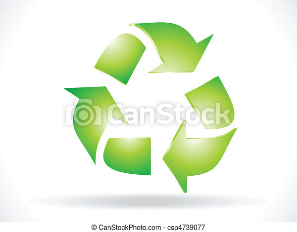 abstract recycle icon vector - csp4739077