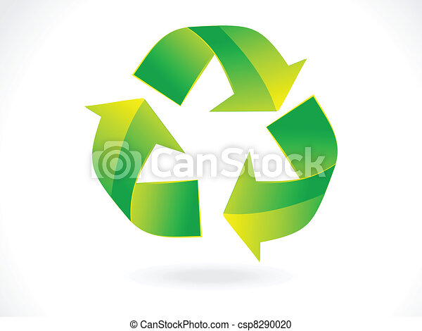 abstract recycle icon vector - csp8290020