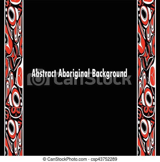 abstract red and black background native - csp43752289