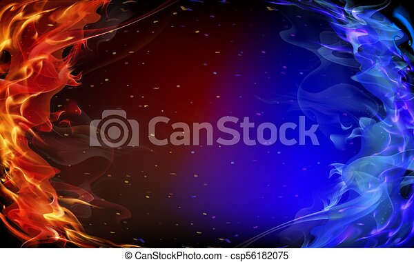 Abstract red and blue fire - csp56182075