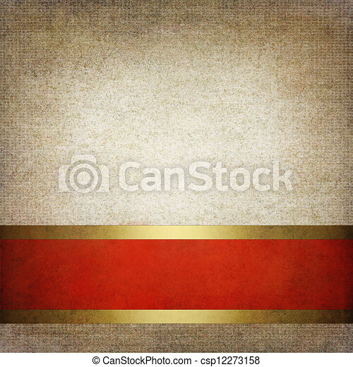 Abstract red and gray background or paper with bright center spotlight and dark border frame with grunge background texture. For vintage layout design of light colorful graphic art  - csp12273158
