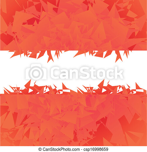 Abstract red background vector - csp16998659