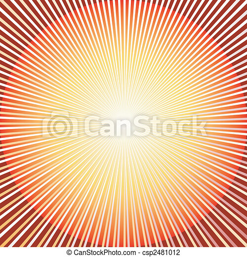 Abstract  red background with sunburst (vector) - csp2481012
