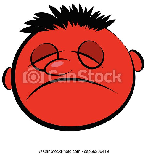 Abstract red face of a sick person vector icon abstract red face of a sick person csp56206419 thecheapjerseys Image collections