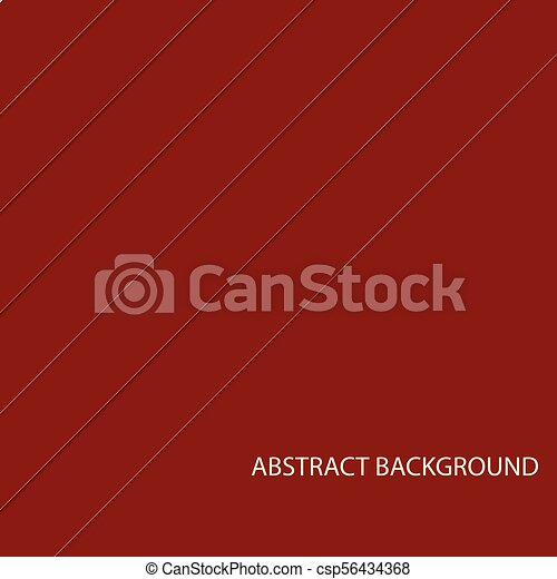 Abstract red geometric background. Vector illustration - csp56434368