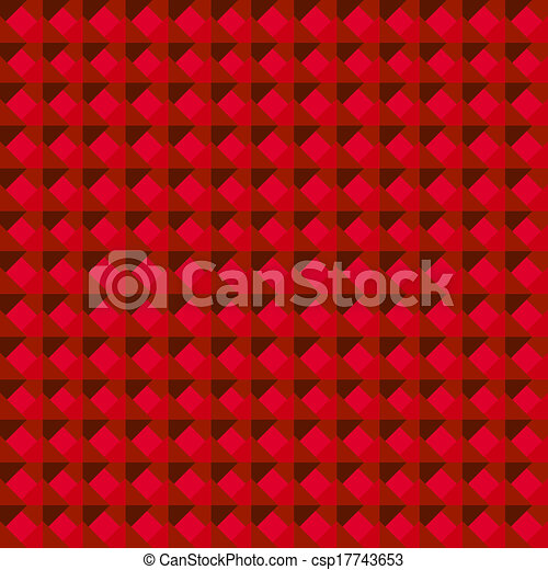 Abstract Red Geometric Background - csp17743653