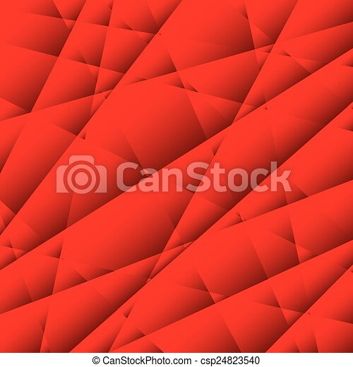 Abstract Red Geometric Background  - csp24823540