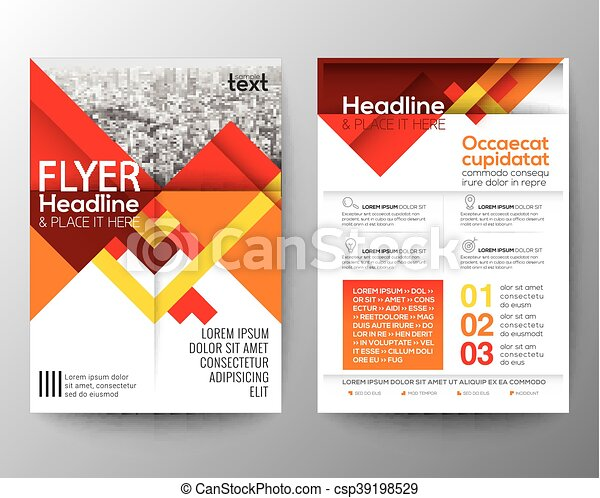 Abstract red geometric background for Poster Brochure Flyer design Layout vector template - csp39198529