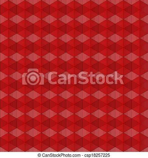 abstract red geometric background - csp18257225