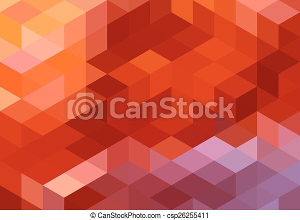 abstract red geometric background - csp26255411