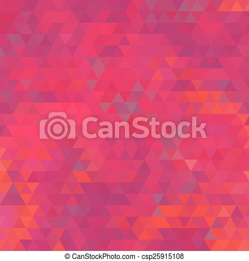 Abstract red geometric background - csp25915108