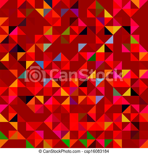 Abstract Red Geometric Color Background - csp16083184